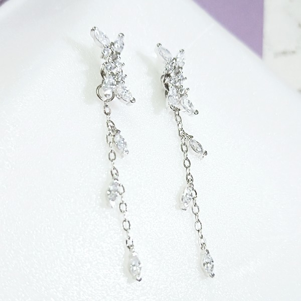 Silver Flower Earrings | Jung Hee Joo – Memories of the Alhambra