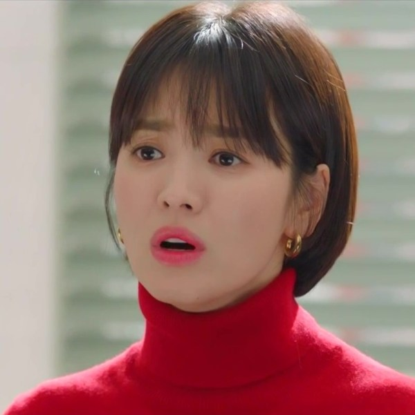 Red Turtleneck Sweater | Cha Soo-Hyun – Encounter