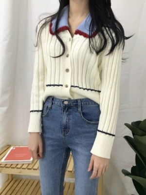 Nayeon Cardigan with a Baby Collar (2)
