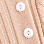 Beige Button Dress | Rose – BlackPink