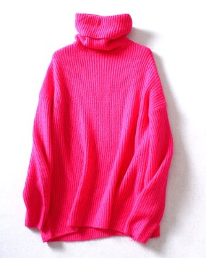 red-velvet-joy-pink-turtleneck-sweater