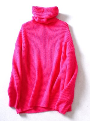 red-velvet-joy-pink-turtleneck-sweater