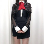 Chic Black Shirt | Jeongyeon – Twice