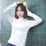 White Turtleneck Sweater with Heart | Nayeon – Twice