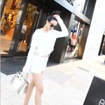 Fluffy Long Sleeved Crop Top | Sana – Twice