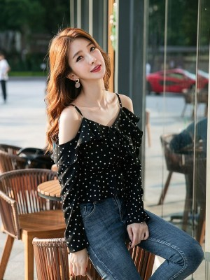 Lisa Blue Dotted Blouse (10)