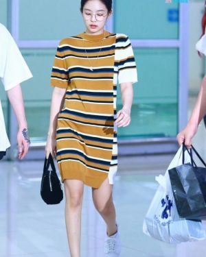 Yellow Striped Dress | Jennie – BlackPink