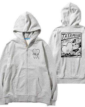 bts-taehyung-tata-mang-zip-hoodie