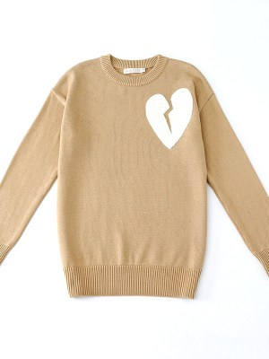 exo-chanyeol-beige-broken-heart-sweater