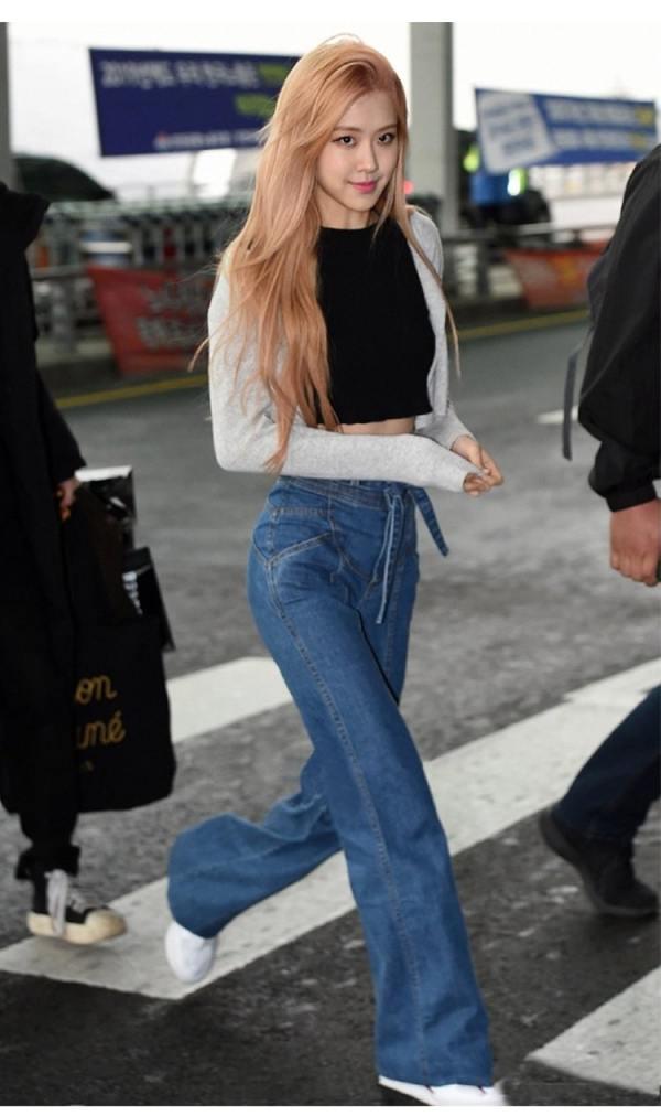 Blue Wide Jeans | Rose – BlackPink