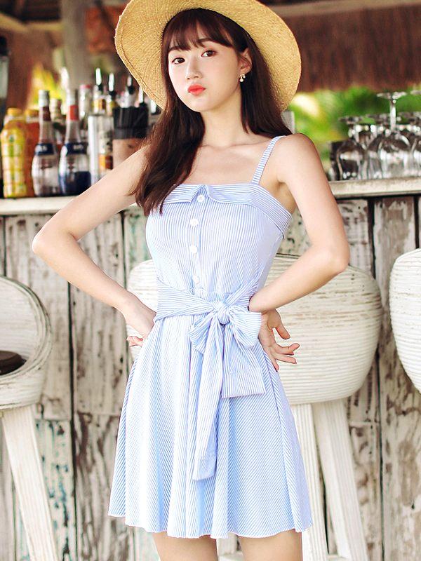 Cute Blue Dress   Rose – BlackPink