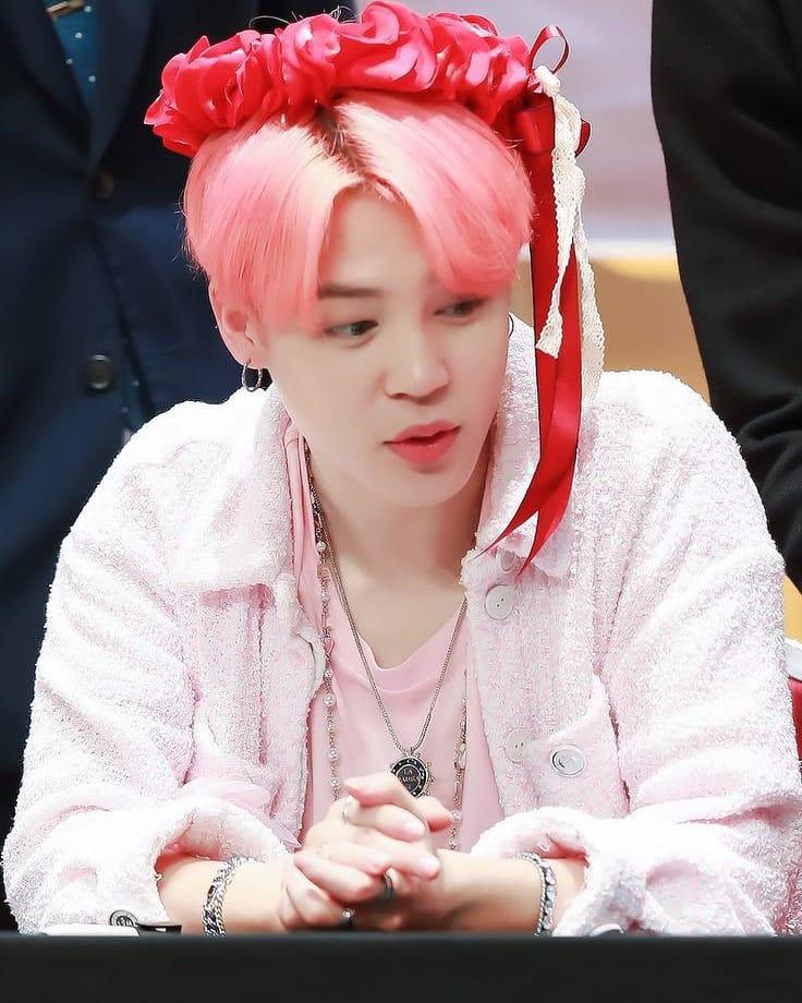 Pink Fluffy Jacket Jimin Bts K Fashion At Fashionchingu
