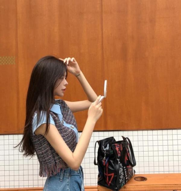 Cropped Tweed Shirt | Jennie – BlackPink