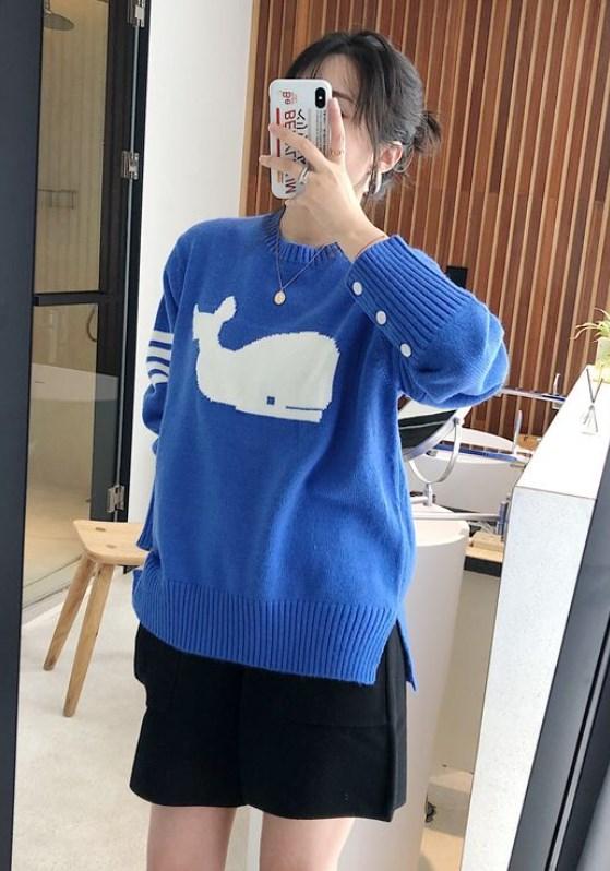 Blue Whale Sweater | Jin – BTS