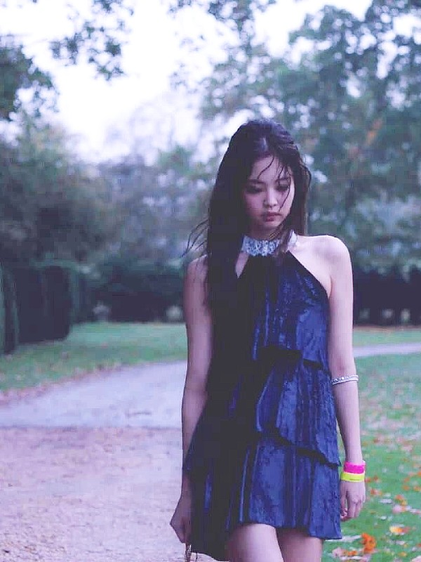Chic Blue Dress | Jennie – BlackPink