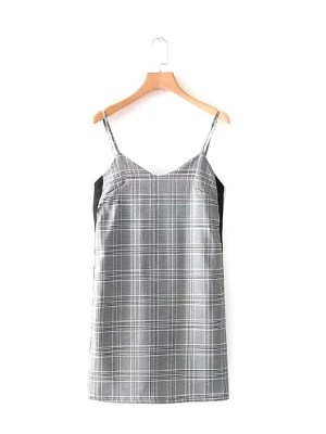 blackpink-jisoo-grey-checkered-dress