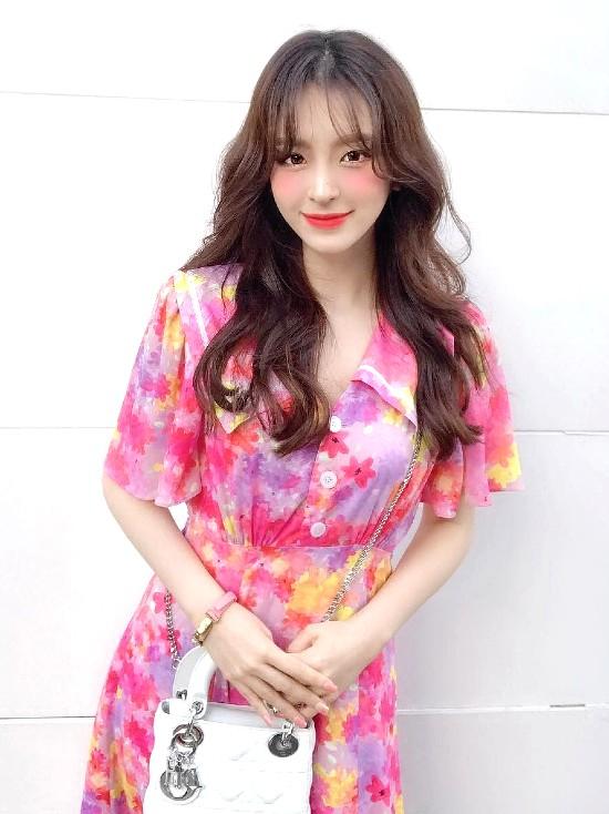 Pink Floral Doll Collar Long Dress | Yeri – Red Velvet