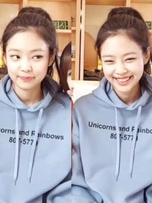 Blue Unicorn Rainbow Hoodie | Jennie – BlackPink