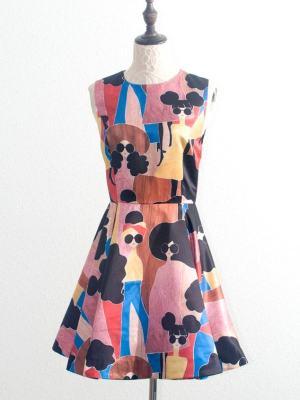 Dahyun Cartoon Graffiti Dress (2)