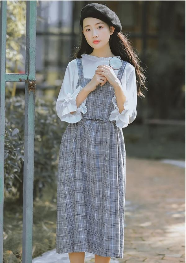 Striped Sling Dress | Dahyun – Twice