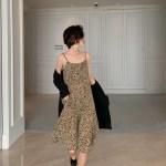 Leopard Print Sling Dress | Hwasa – Mamamoo