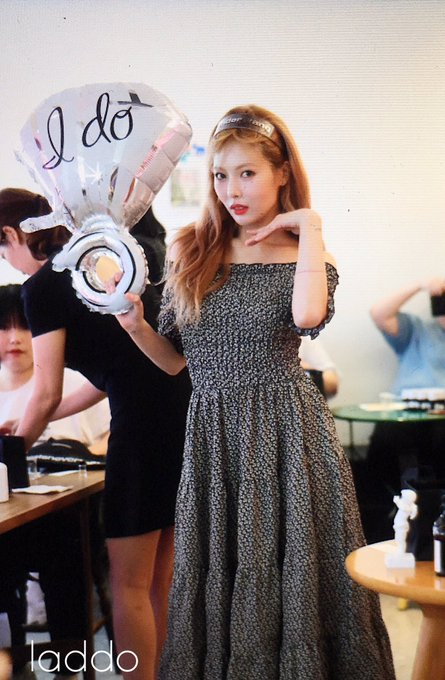 Off-Shoulder Floral Long Dress | Hyuna