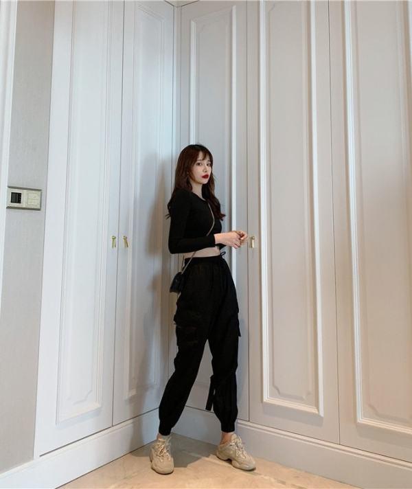 High Waist Buckle Strap Pants | Jeongyeon – Twice