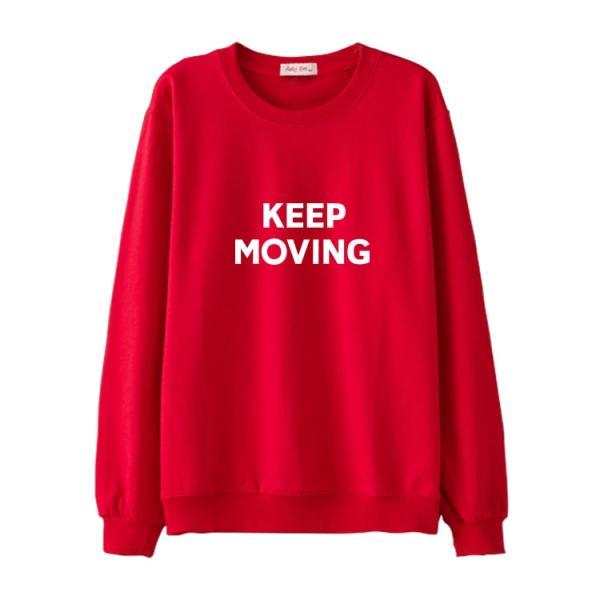 Keep Moving Sweater   Joy – Red Velvet