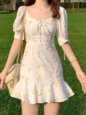 Rose Fresh Cherry White Dress (7)