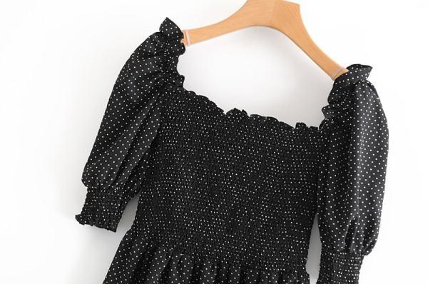 Polka Dots Black Dress | Rose – BlackPink