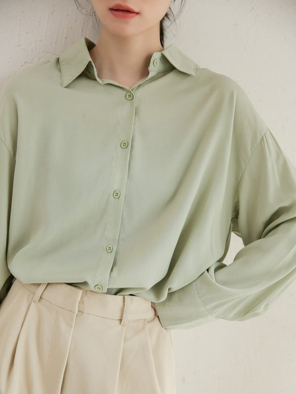 Loose Long Sleeved Shirt | Wendy – Red Velvet