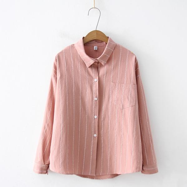 Apricot striped Shirt | Hong Seol – Cheese in the Trap