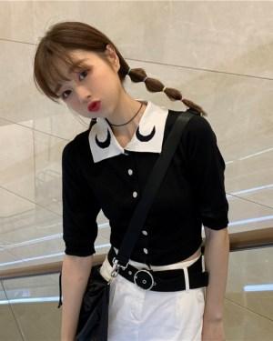 Hyuna Moon Polo Collared Shirt (8)