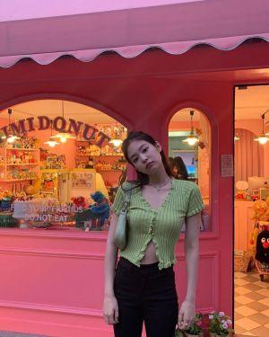 Buttons Lace Knit Cardigan Shirt | Jennie – BlackPink
