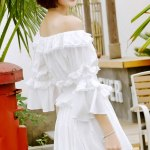 White Lace Blouse And Pleated Skirt Set  | Mina – Twice