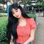 Red Plaid Ruffled Collar Blouse | Nayeon – Twice