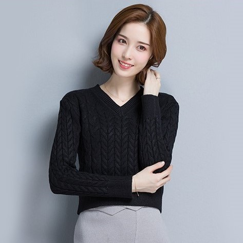 V-Neck Short Knit Sweater | Nayeon – Twice