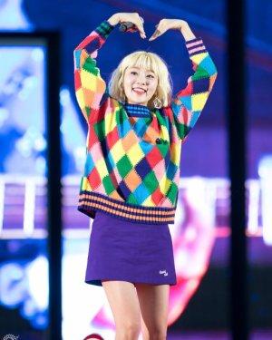 Colorful Diamond Pattern Sweater | Ahn Ji Young