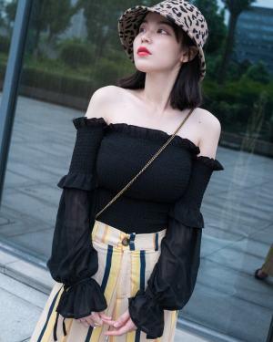 Jennie Black Off-Shoulder Long Sleeved Blouse (7)