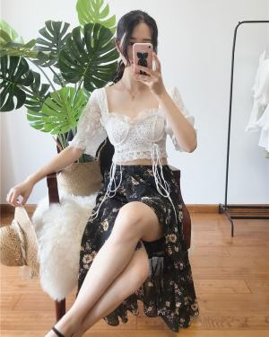 Joy White Lace Crop Top (1)