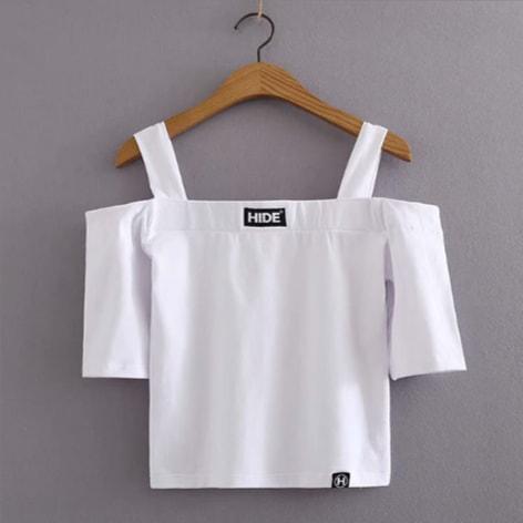 Off-Shoulder Strap Crop Top | Junghwa – EXID