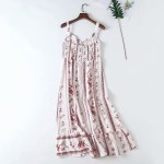 Red Floral Print Strap Dress | Momo – Twice