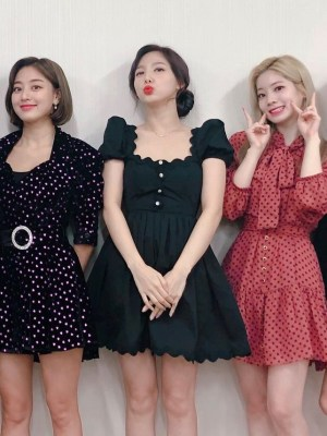 Black U-Neck French Dress | Nayeon – Twice
