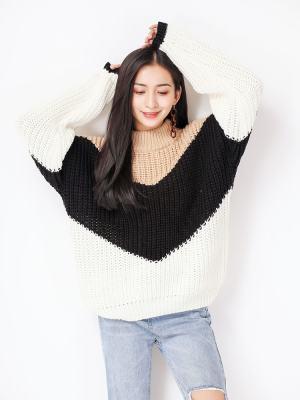Solar Loose Khaki Black Sweater (9)