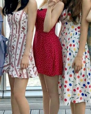 Cherry Print Sleeveless Dress   Tzuyu – Twice