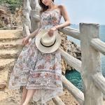 Floral Print Lace Maxi Dress | Tzuyu – Twice