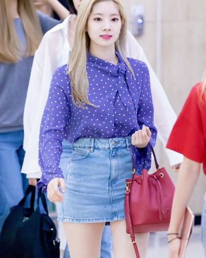 Long Sleeve Tie Neck Lilac Blouse | Dahyun – Twice