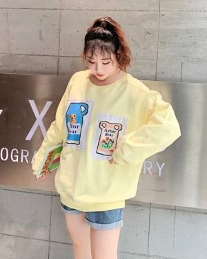 Jennie Cute Bear In Pitcher Yellow Sweater (4)