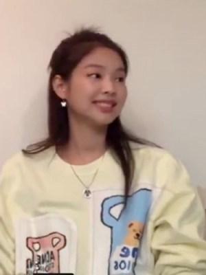Cute Bear In Pitcher Yellow Sweater   Jennie – BlackPink