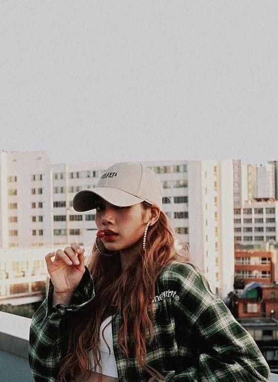 Green Plaid Polo Shirt | Lisa – BlackPink